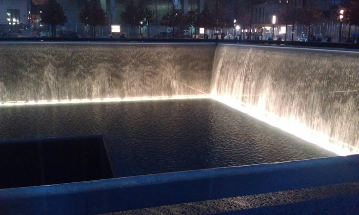 The 9/11 Memorial in NYC -