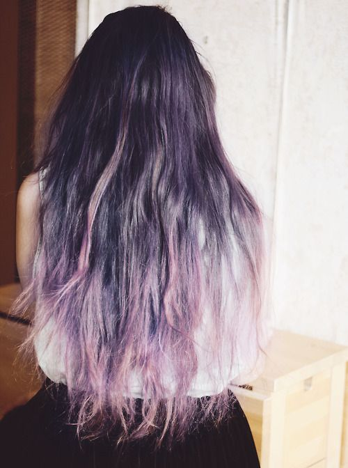dark brown black silver purple ombre becoming