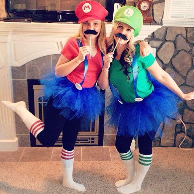 Mario And Luigi Mario Costume Diy Mario Halloween Costumes