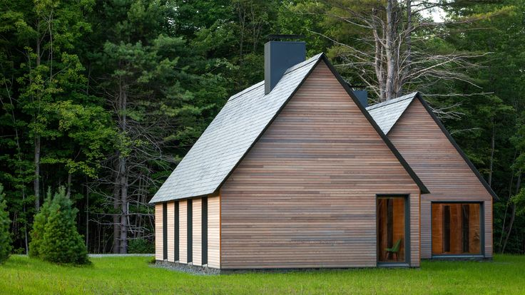 US firm HGA Architects and Engineers took cues from Cape Cod-style homes while conceiving a series of cabins for world-renowned musicians spending the summer in rural New England