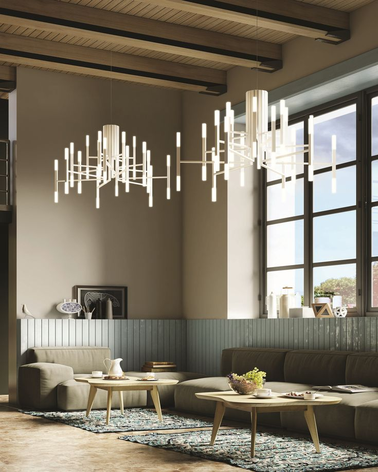 Iron chandelier THE LIGHT by ALMA LIGHT design Cristian Cubia