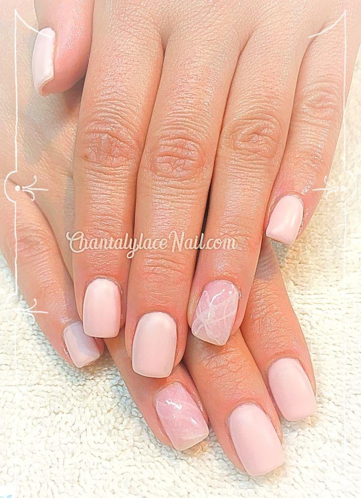 rose quartz nail art