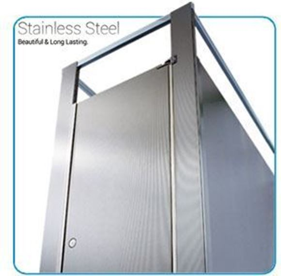Stainless Steel Bathroom Partitions Decoration Unique Design Decoration