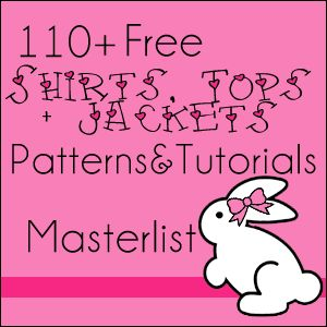Over 100 FREE patterns and tutorials for girls tops, shirts and jackets! Circle poncho pattern included