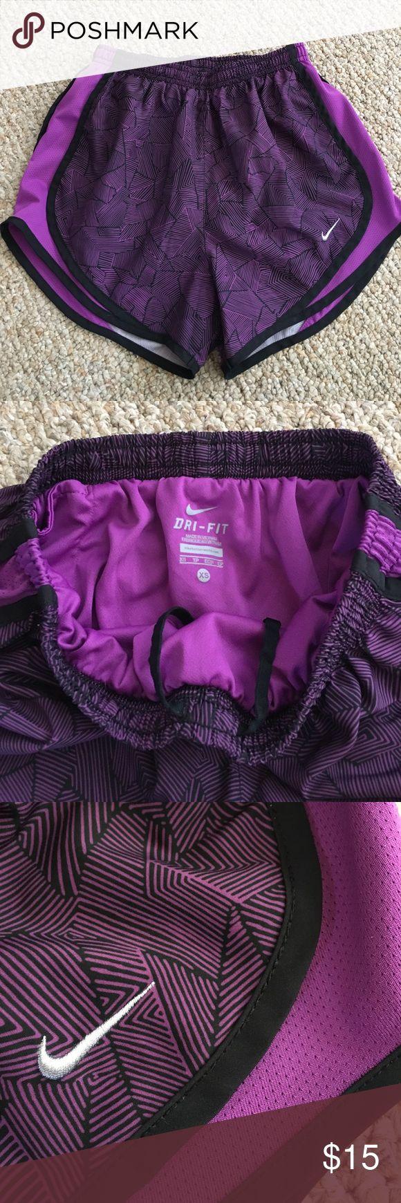 Nike Tempo Shorts EUC. Purple/black pattern. Size XS. Nike Shorts
