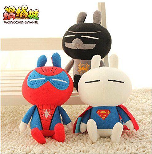 2015 New Arrival Classic Plush Toys 11.8 Tuzki Turned Superman Batman Spiderman High Quality Low Pri @ niftywarehouse.com #NiftyWarehouse #Spiderman #Marvel #ComicBooks #TheAvengers #Avengers #Comics
