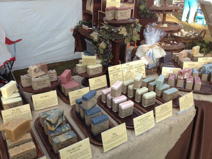 Alchemy & Ashes Soap Display -- Pretty, but a pain to set up -- although I might be able to use box lids as the trays to make it faster?