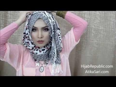 ▶ Hijab Tutorial 9 How to Wear Scarf Shawl Pashmina Facebook Hijab Republic - YouTube