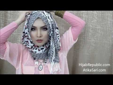 ▶ Hijab Tutorial 9 How to Wear Scarf Shawl Pashmina Facebook Hijab Republic - YouTube
