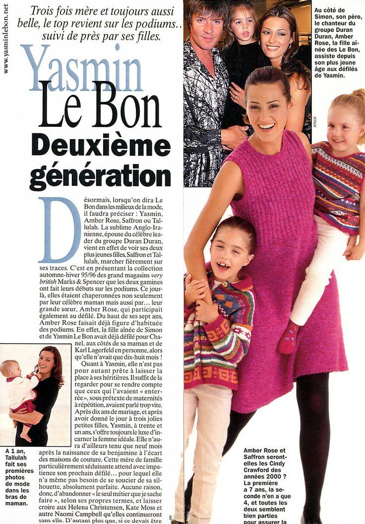 Simon, Yasmin, Amber, Saffron and Tallulah Le Bon 1995
