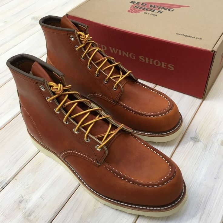 "These classic boots featured a moc toe design. The name came from the word moccasin, the Algonquian Indian word for shoe. Red Wing Shoes 0875 6"" Classic Oro-Legacy Moc-Toe Leather Shoes Made in USA SZ UK 11 EU 46 BNIB. 
