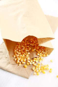 Microwave Popcorn made in a Brown Paper Bag in Minutes! the best kind of fast food. It is low-fat, gluten free, inexpensive and a great snack food.