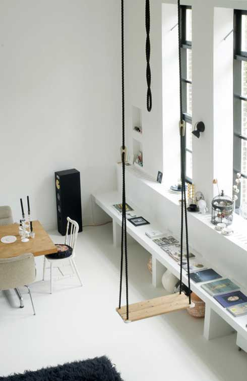 The swing for your interiors: the dream for all ages!