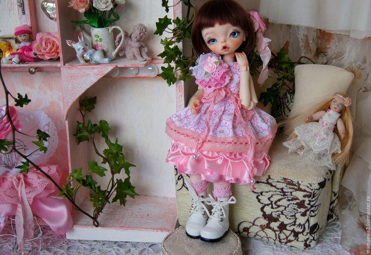 Купить В розовом цвете - розовый, платье, красивое платье, платье для куклы, кукла, bjd