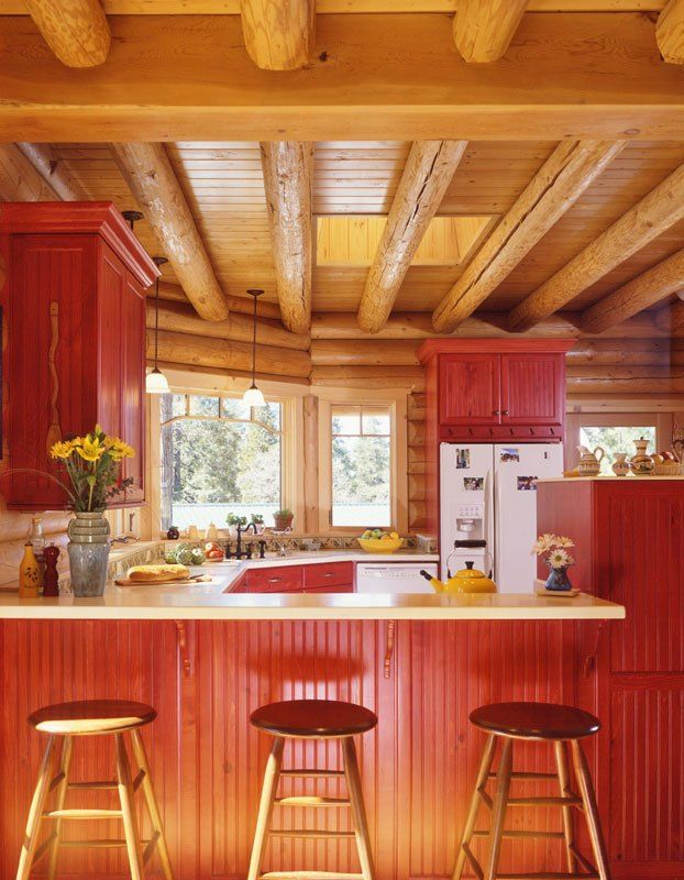Log Home Kitchen Layout The Work Triangle And Beyond