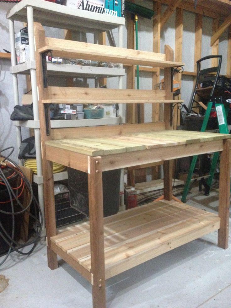 Potting bench I built for my Mom