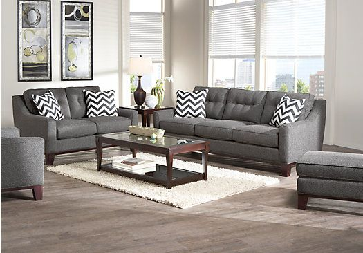 Chair shop for a cindy crawford home hadly gray 8 pc living room at rooms to go find living for Cindy crawford living room set