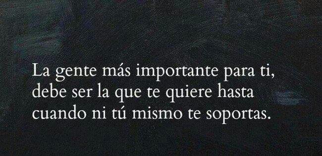 ...La gente mas importante para ti...