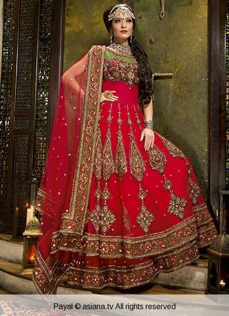 payal-26 | Asiana.tv beautiful red anarkali