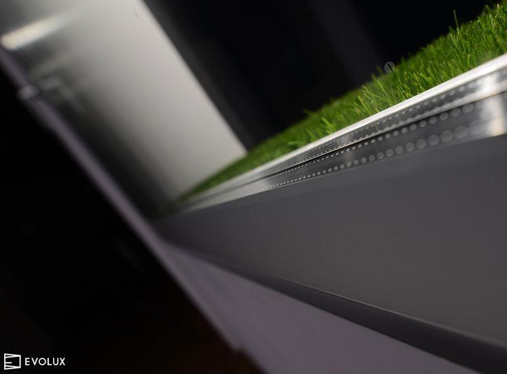 Davanzale Verde Prato a filo vetro #evolux