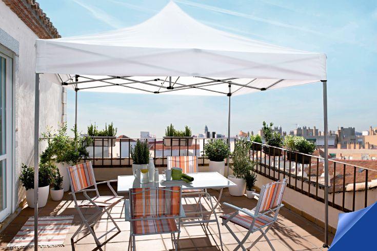 Protégete del sol con este cenador plegable de 3x3m. #Hipercor