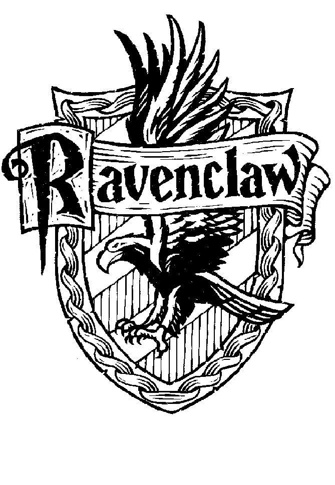 ravenclaw house harry potter coloring page
