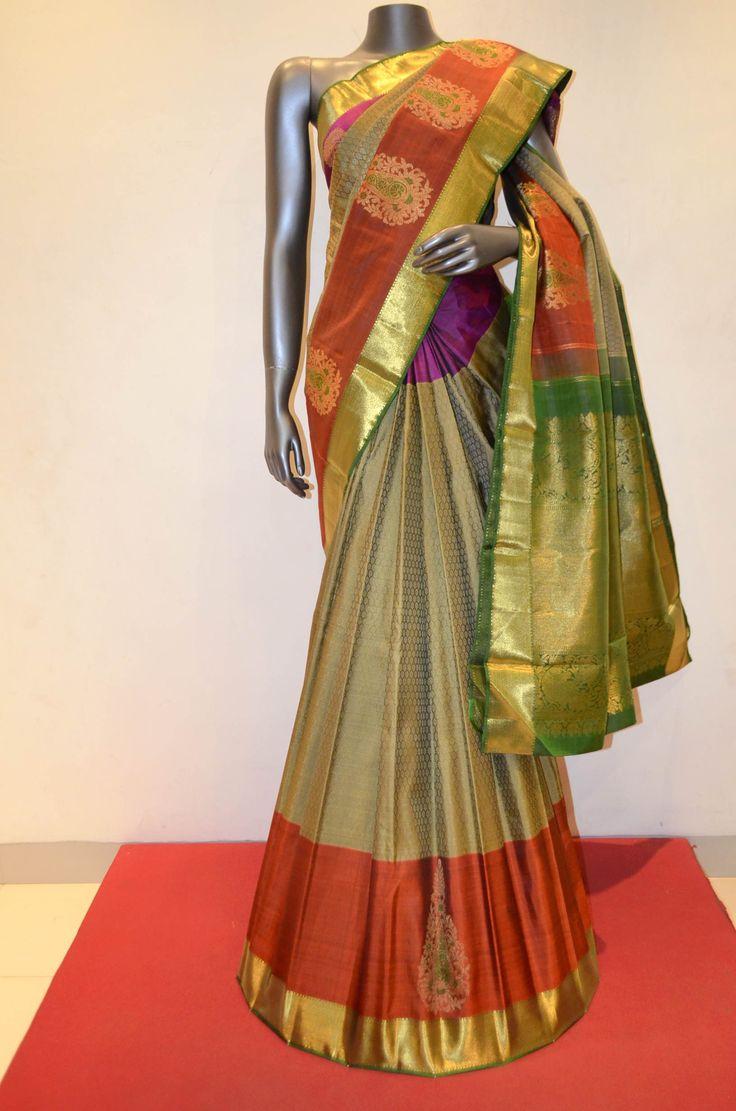 Jyothika traditional sari at shobi wedding saree blouse patterns - Kanjeevaram Silk Saree With Designer Border Product Code Ab210328 Online Shopping Http Silk Sareessarisonline Shoppingdressingindiablouses