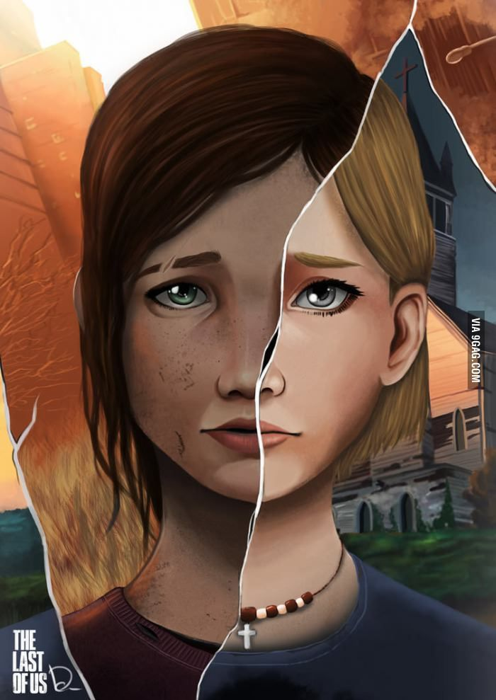Ellie and Sarah the last of us