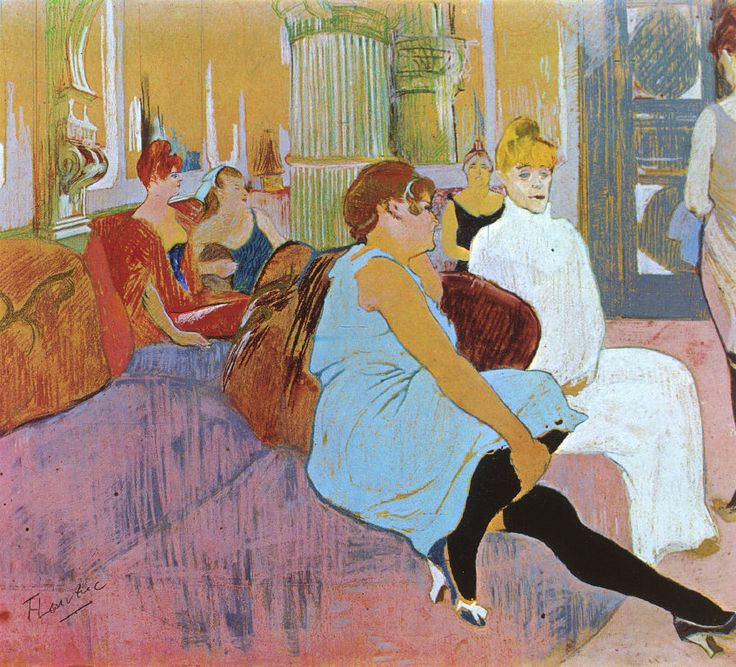 henri de toulouse lautrec salon in the rue des moulins - Decoratrice Mariage Toulouse
