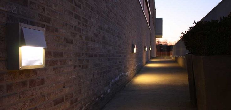 Outdoor Wall Lighting with brick wall