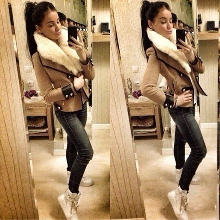 winter jas vrouwen reële rits standaard volledige massief geen zakken gratis verzending 2014 herfst winter nieuwe mode voor vrouwen slanke jacke