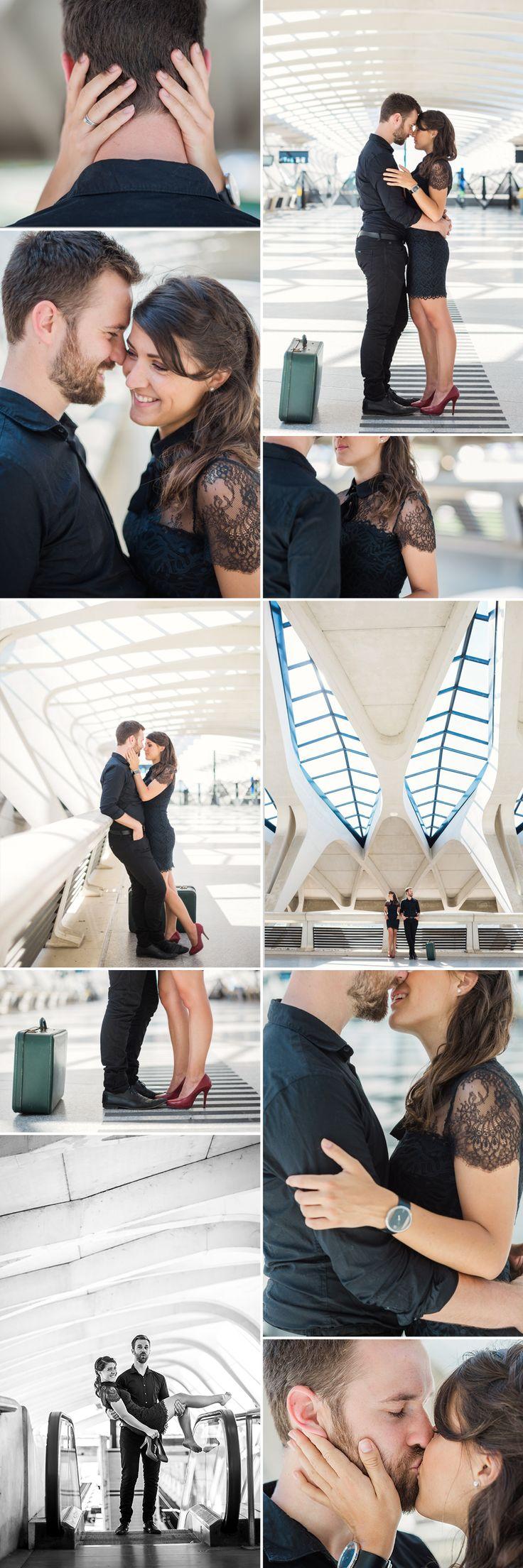 Séance de couple à l'aéroport Saint Exupéry Nathalie Roux Photographe