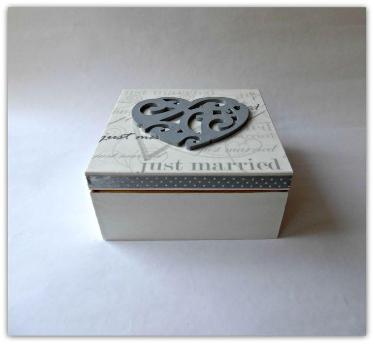 Ślubne pudełko - Więcej na mojej stronie na fb - Decoupage Gallery