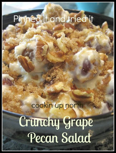 cookin' up north: Crunchy grape pecan salad..pinned it and tried it