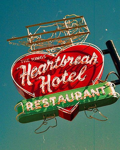 The Kings Heartbreak Hotel ~ Iconic Neon Sign. Memphis, Tennessee