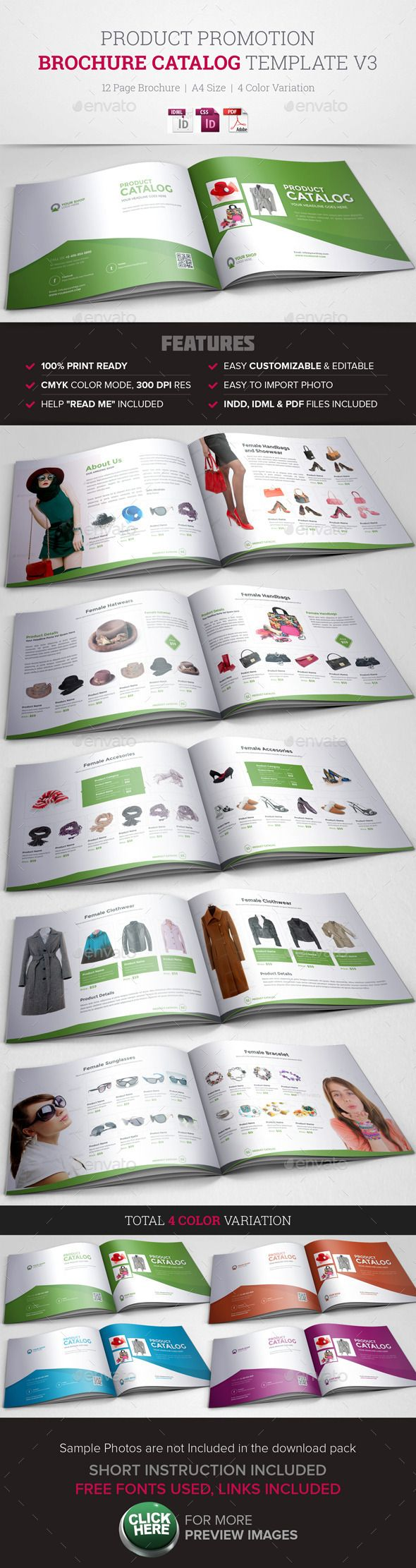 Product Promotion Catalog InDesign Template #design #brochure Download: http://graphicriver.net/item/product-promotion-catalog-indesign-template-v3/11410095?ref=ksioks