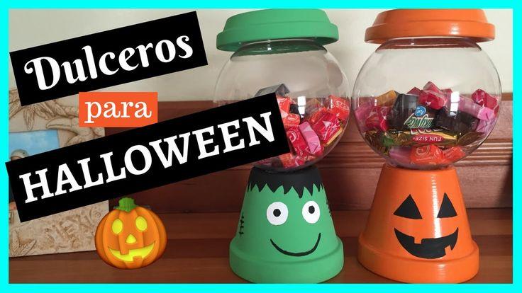 Dulceros para Halloween!!! Originales y súper fáciles de hacer.