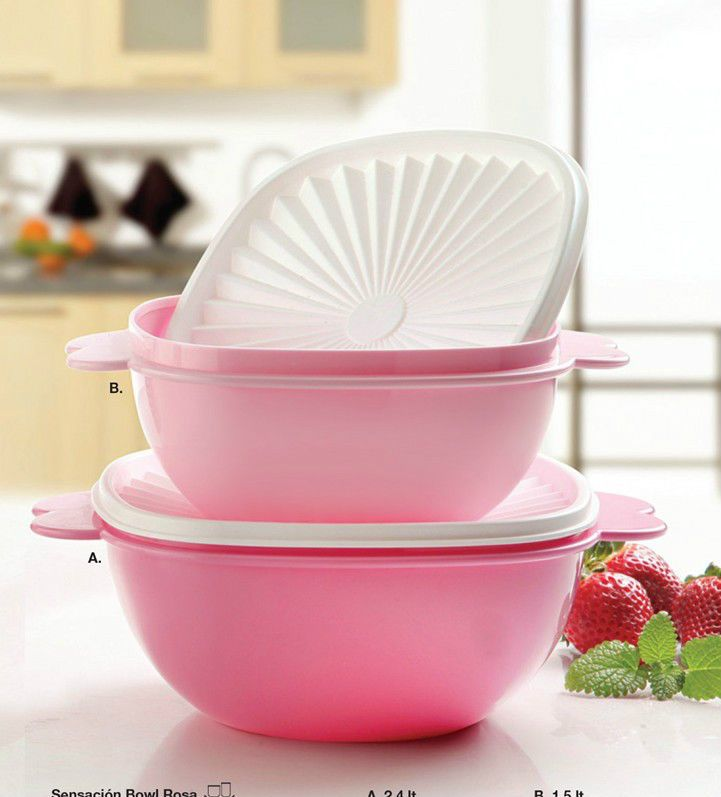 tupperware servalier bowl set shadows of pink 6 10 cup new tupperware pinterest pink pink. Black Bedroom Furniture Sets. Home Design Ideas
