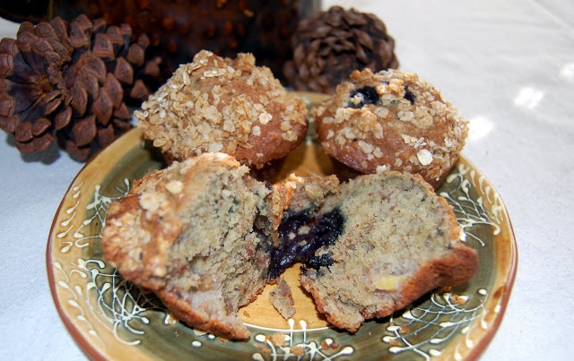 Blueberry Maple Oatmeal Muffins With Pecan Streusel Recipe ...
