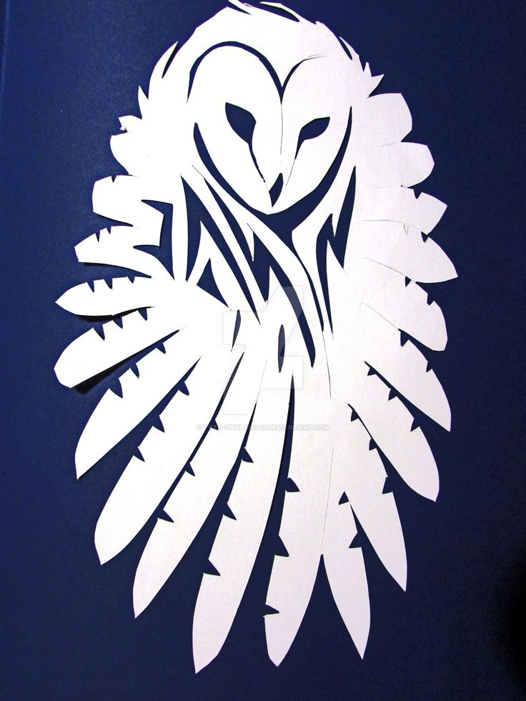 Flying owl stencil - photo#1
