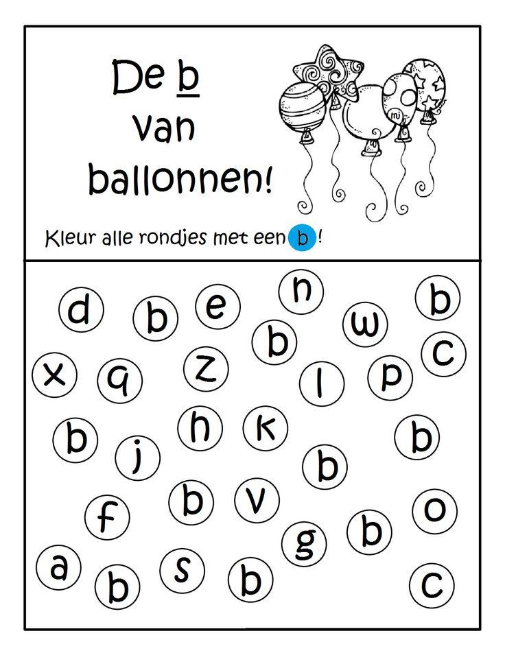 Werkblad geletterdheid: De b van ballonnen!