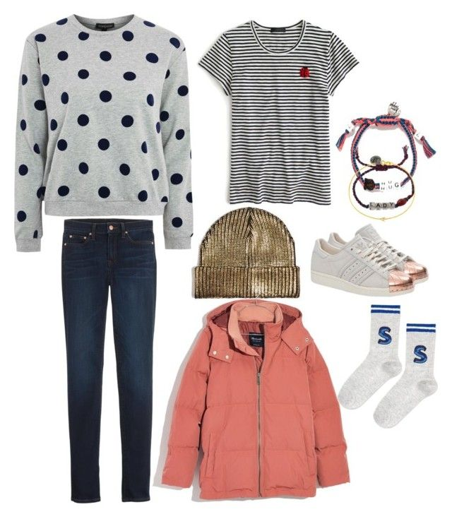 🌧☔️💨 by strawberryplums on Polyvore featuring polyvore, fashion, style, Topshop, J.Crew, Madewell, adidas Originals, Venessa Arizaga, Maya Brenner and clothing
