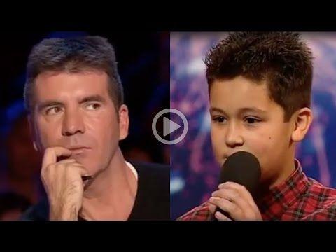 12 Year Old Boy Humiliates Simon Cowell - YouTube