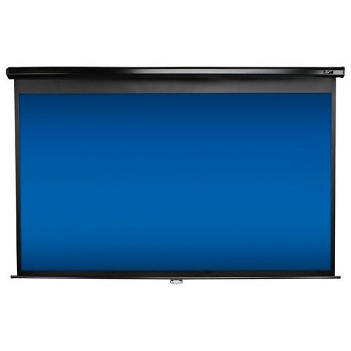 Elite Screens - Pull-Down Projector Screen - Black - Larger Front