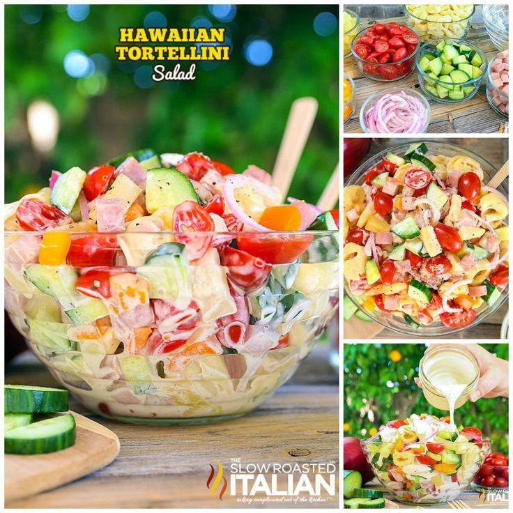 Hawaiian Tortellini Salad//this looks amazing for summer bbqs