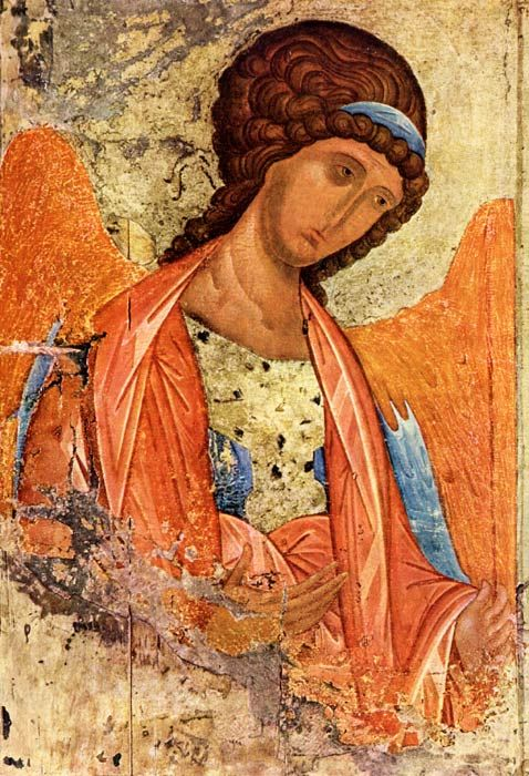 Russian icon by Andrei Rublev Archange Michael c 1406