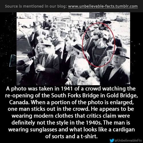 Click and read the comment on the reasoning that this isnt a time traveler...