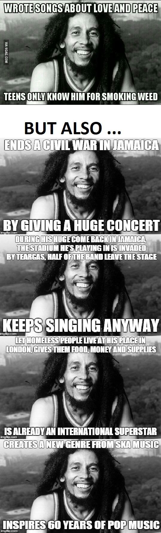 Well, that I didn't know. I'm not a huge Marley music fan, mainly because they play it far too much at work, but these are some good facts.