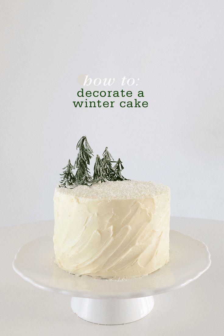 dessert // winter chocolate cake with swiss meringue buttercream [ plus construction tutorial . sweet ]