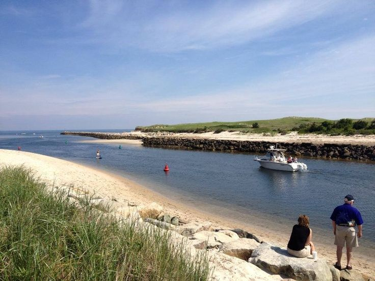 View from Sesuit Harbor Cafe in Dennis, MA Cape Cod